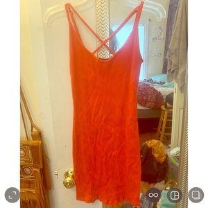 Red Mini-dress